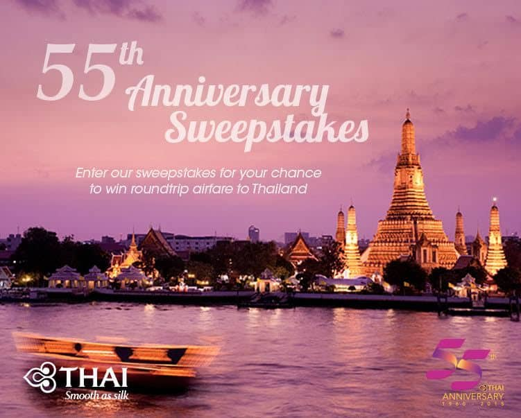 Thailand 55th Annivesary sweepstakes
