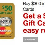 $15 Staples Gift Card With $300 MasterCard Gift Card Purchase