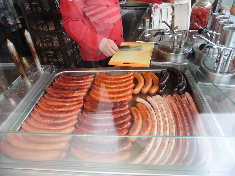 street food cart hot dog stand wurstelprate