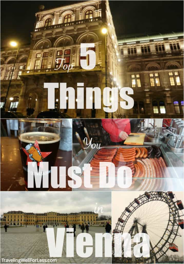 Here's my pick of the top 5 things you must do in Vienna | https://www.travelingwellforless.com #austria #vienna #thingstodovienna