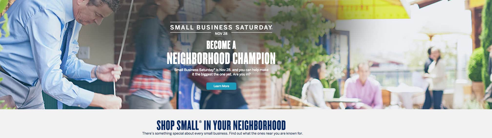 Small Business Saturday, American Express