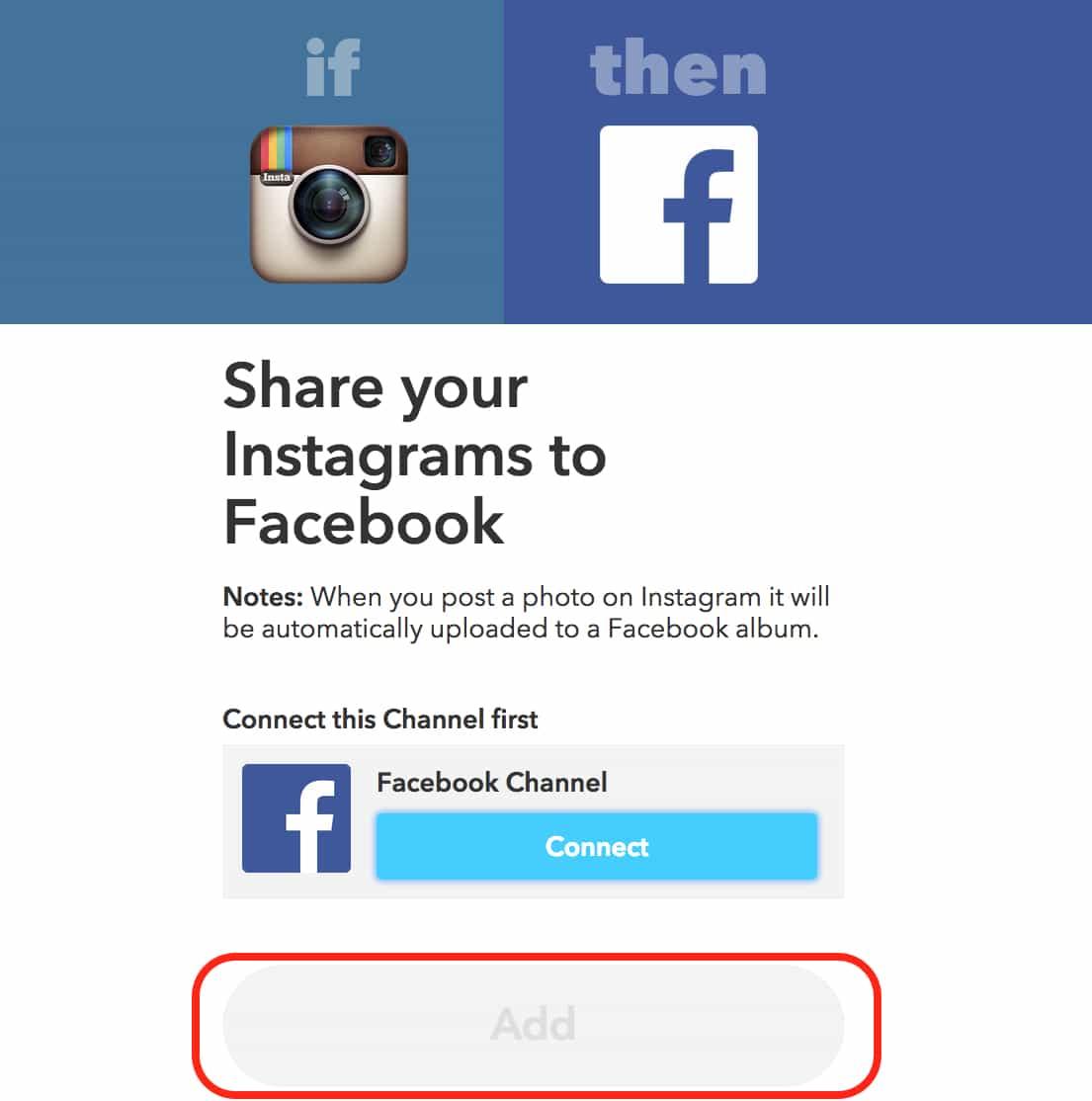IFTTT, If this then that, Facebook, Twitter, Instagram