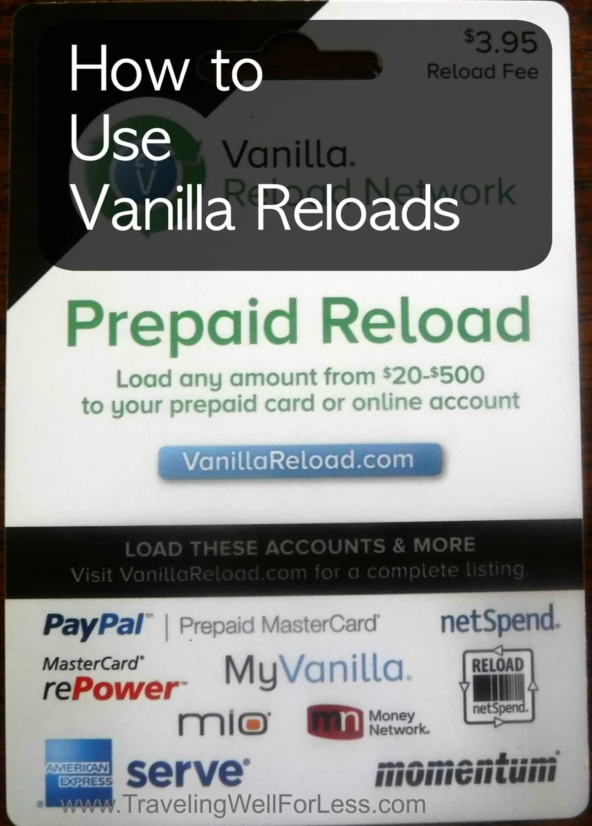 How to Use Vanilla Reloads