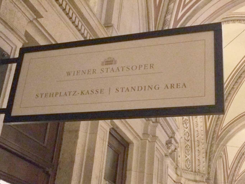 tephplatz Kasse Standing Area, Wiener Staatsoper, Vienna Opera House