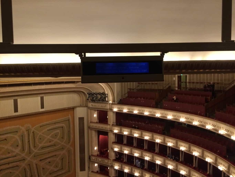 Vienna Opera, display monitor
