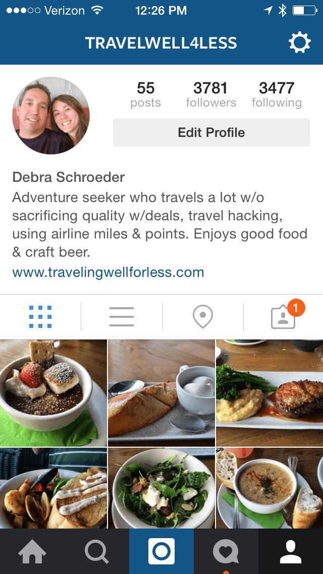 Instagram, travelwell4less, traveling well for less