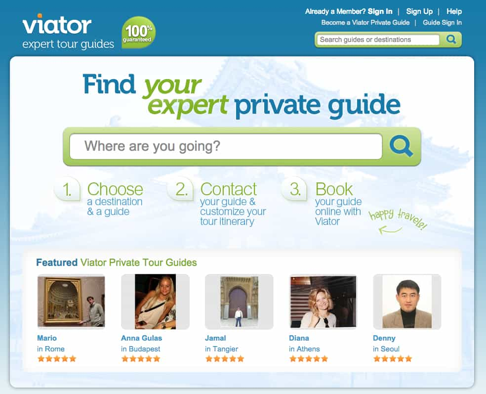 Viator tour guide, make money traveling, Traveling Well For Less