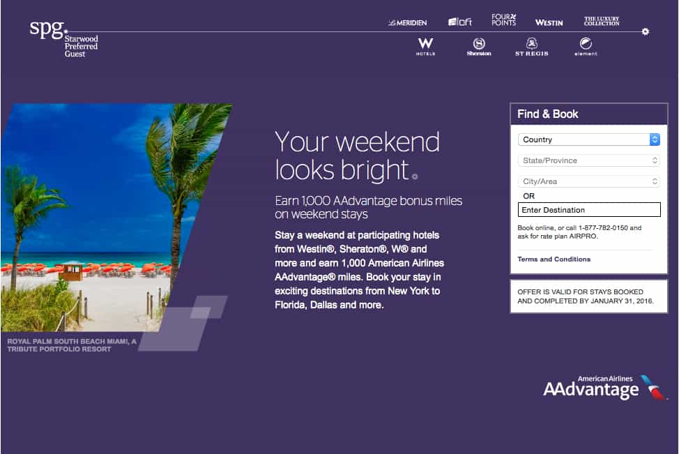 1,000 American Airlines miles, Starwood, Traveling Well For Less