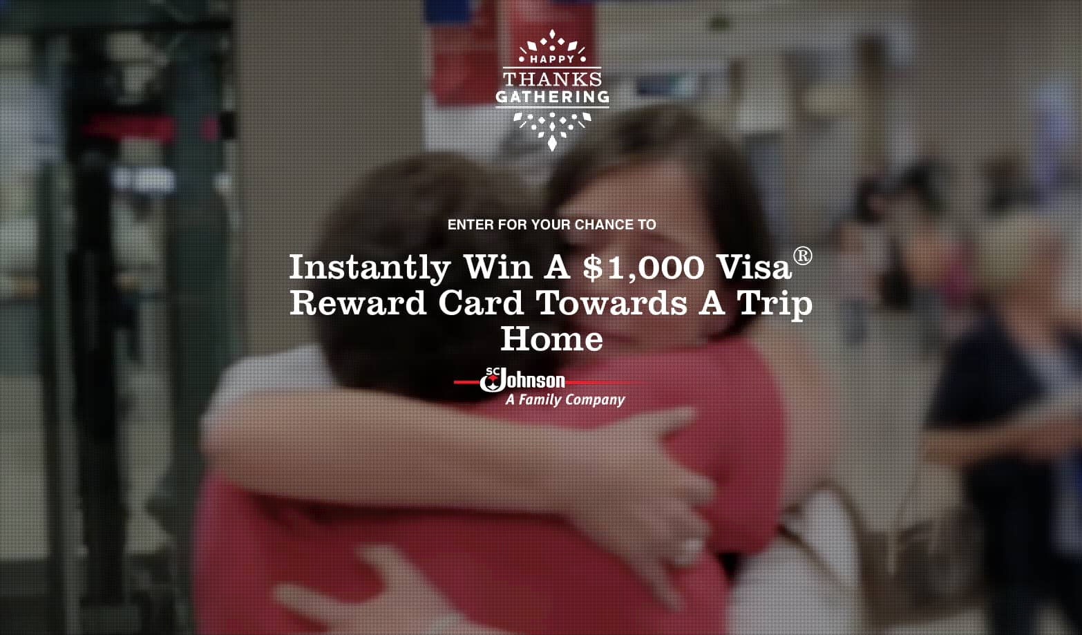 Win a $1,000 Visa Gift Card in SC Johnson Happy ThanksGathering Giveaway