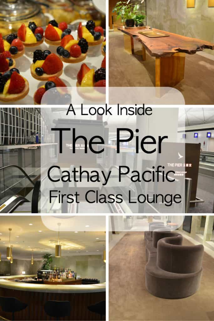 Experience an oasis of calm in the busy Hong Kong Airport at The Pier, Cathay Pacific First Class lounge.