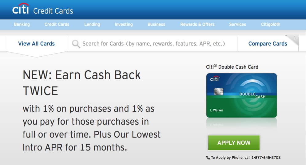 Earn unlimited cash back on everything with the citi double cash card