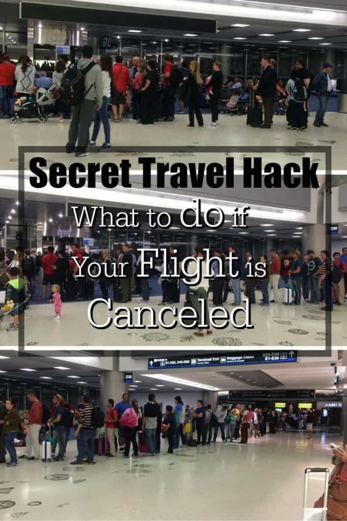 Do you know the secret travel hack of what to do if your flight is canceled that will save you hours of frustration and help you get rebooked on another flight sooner. Traveling Well For Less