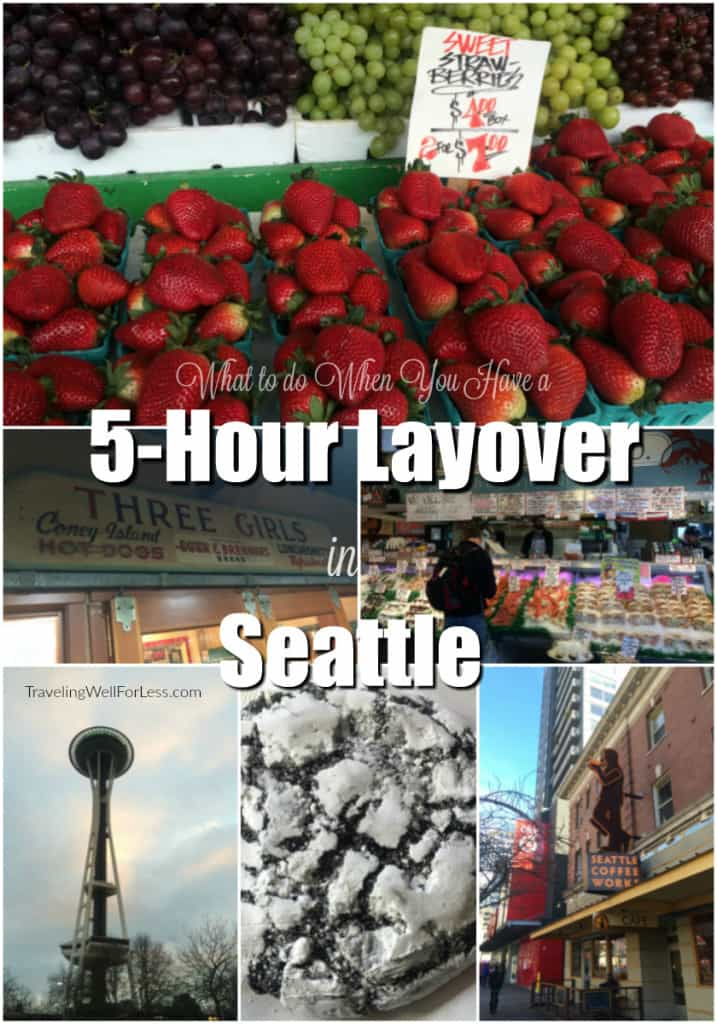 Seeing Seattle in 5 hours is possible. Read travel expert Debra Schroeder's recommendations on what to do when you have a 5-hour layover in Seattle. Traveling Well For Less