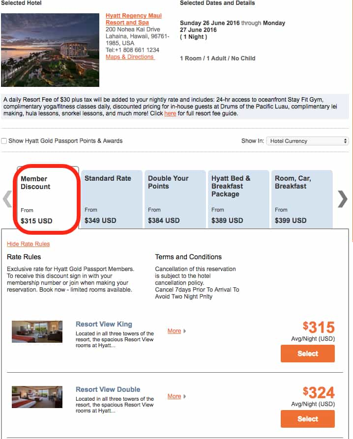 Discount coupons hyatt hotels