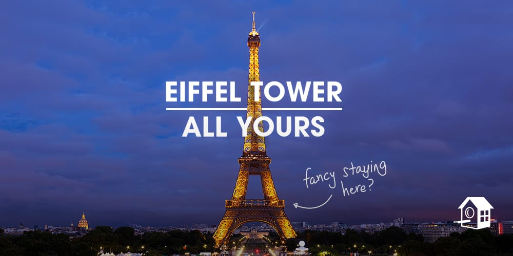 Win a 4 night trip to Paris that includes spending the night in the Eiffel Tower Apartment. TravelingWellForLess.com