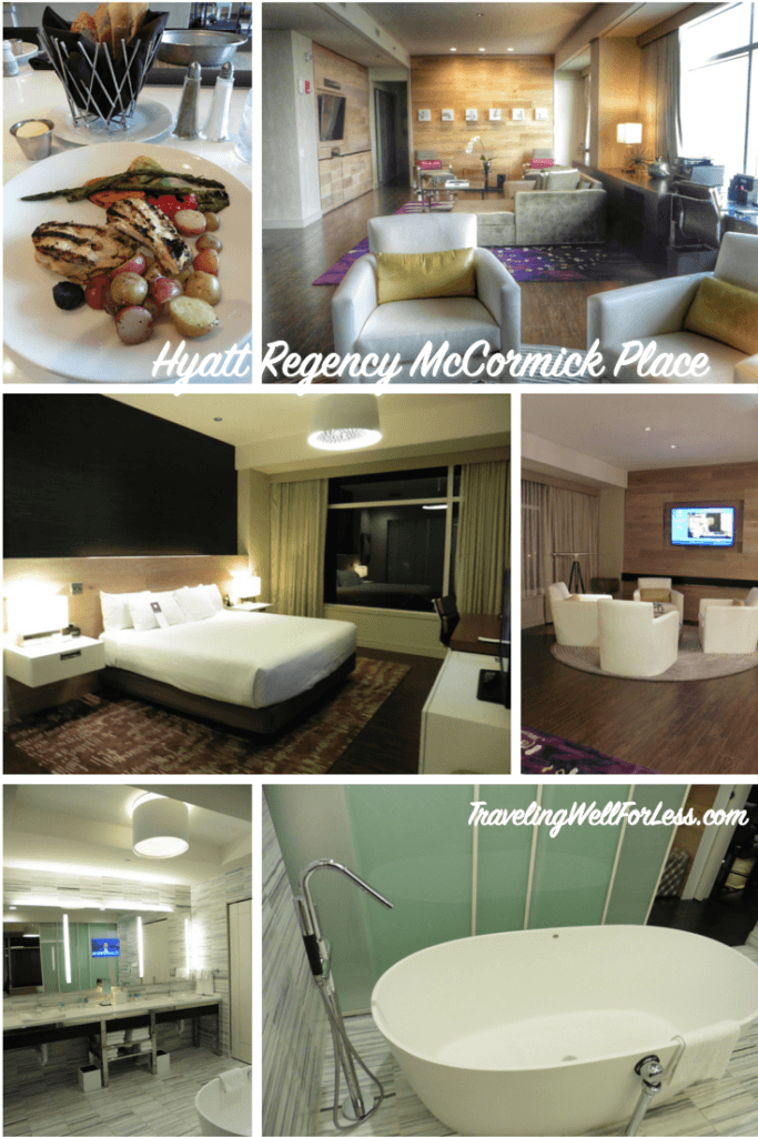 The Hyatt Regency McCormick Place is close to downtown Chicago and offers a variety of room types. Click on the pin to read my review. TravelingWellForLess.com
