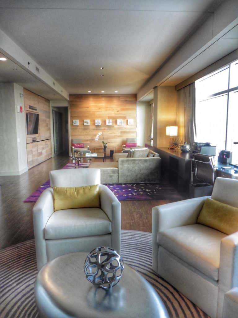 One of the two Park Suites at the Hyatt Regency McCormick Place. TravelingWellForLess.com