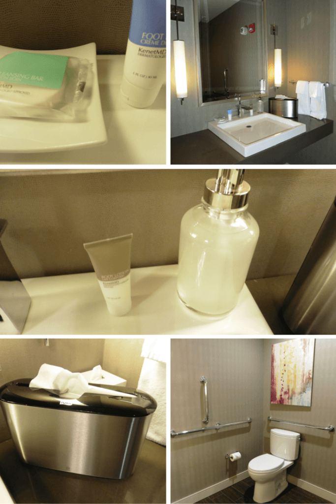 Guests have their own bathroom when you stay in the Park Suite at the Hyatt Regency McCormick Place. TravelingWellForLess.com