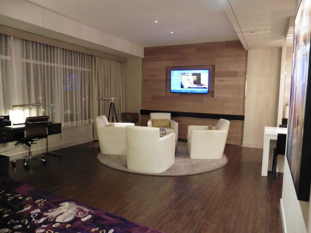 Entertain or watch TV in the Park Suite parlor. TravelingWellForLess.com