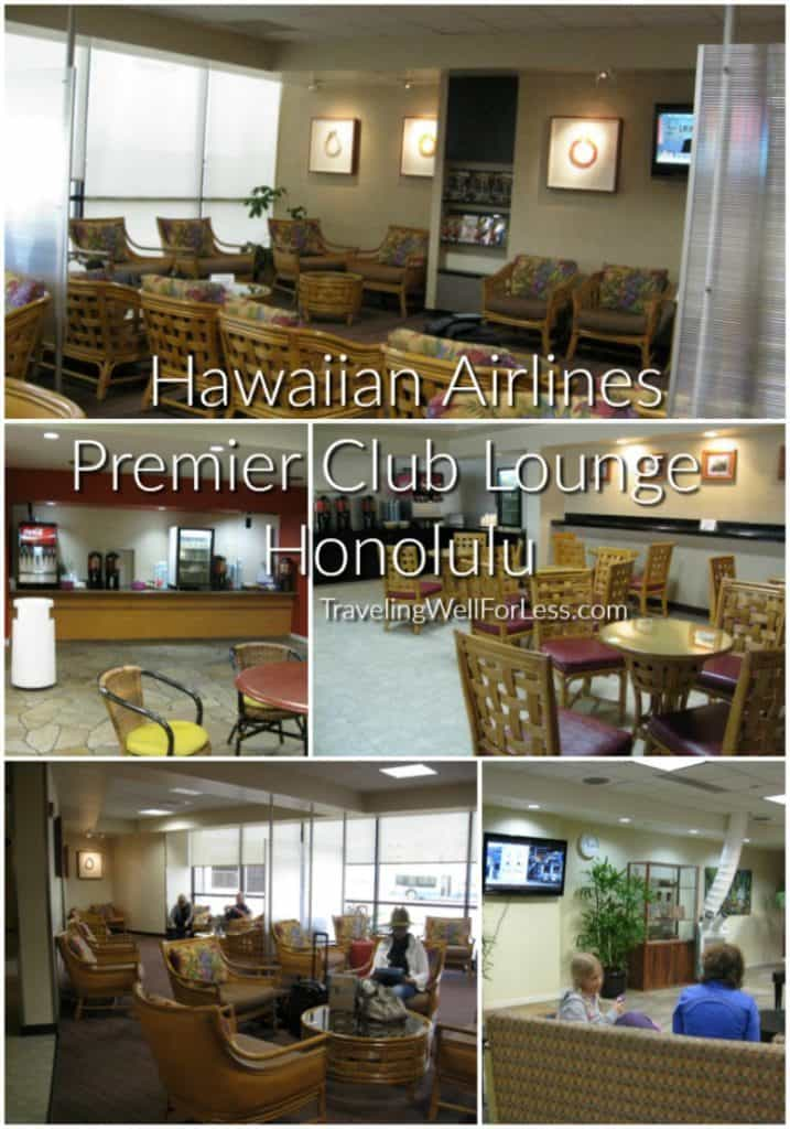 The Hawaiian Airlines Premier Club Lounge in Honolulu is only open to members. Traveling Well For Less