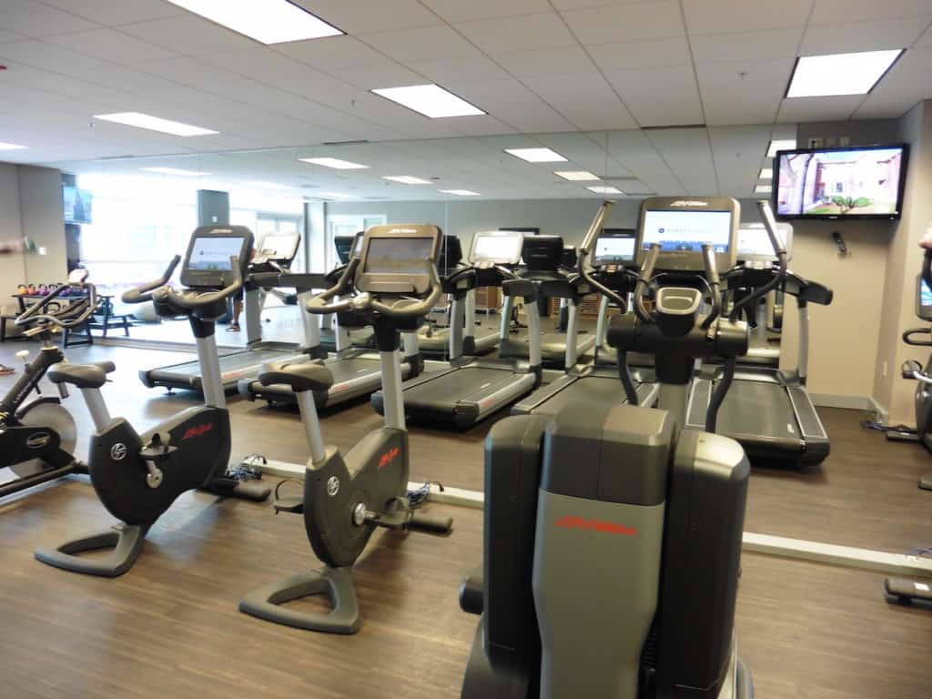 The Stay Fit gym at the Hyatt Regency McCormick Place is open 24 hours a day, seven days a week. TravelingWellForLess.com
