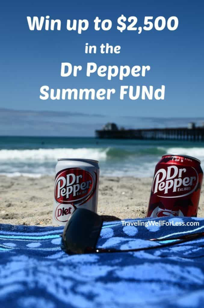 Win up to $2,500 when you buy Dr Pepper® items at Walmart through July 31, 2016. TravelingWellForLess.com