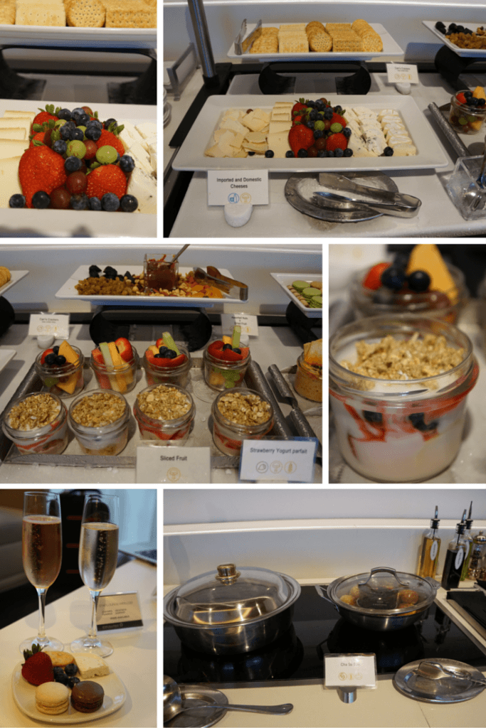 The buffet in the Star Alliance First Class Lounge at LAX is limited. But you can order from a menu or go to the Business Class lounge next door. TravelingWellForLess.com