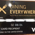 The Dining Everywhere Card can be used at bars and restaurants. But can also be used to buy money orders. https://www.travelingwellforless.com