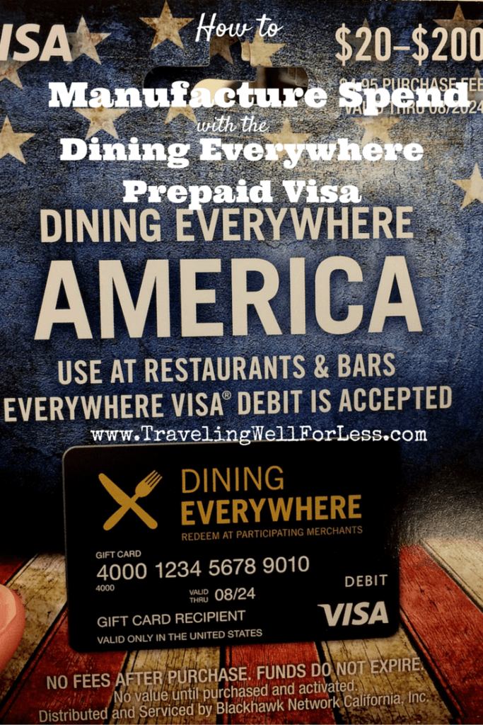 Review: Dining Everywhere Prepaid Visa Card - New Way to ...