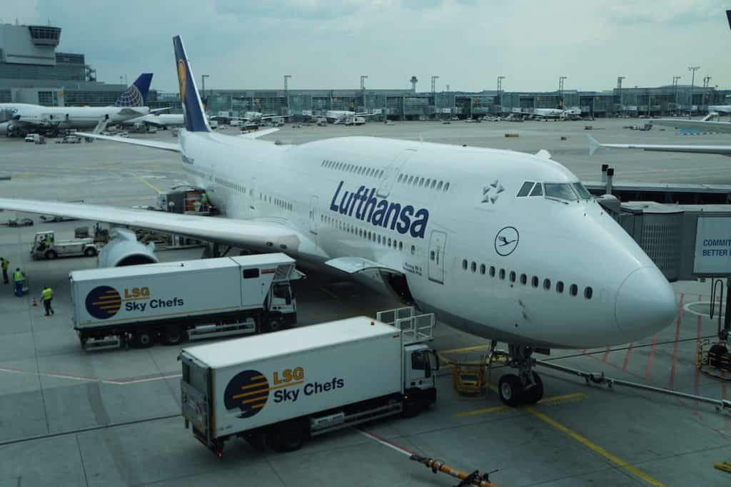 My First Class Lufthansa flight on the 747-8 only cost $40. Find out how at https://www.travelingwellforless.com