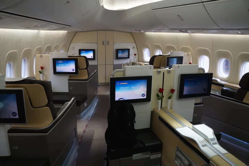 Private cabin for Lufthansa First Class 747-8 passengers. http://www.travelingwellforless.com