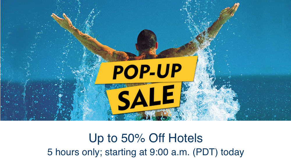 5 Hours Only: Save up to 50% Off Hotels