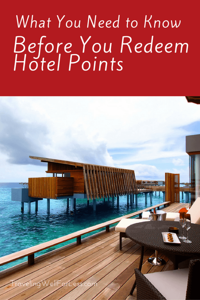 Free hotel stays using points. Cash or hotel points? Here's what you need to know before you redeem points for hotel stays. TravelingWellForLess.com
