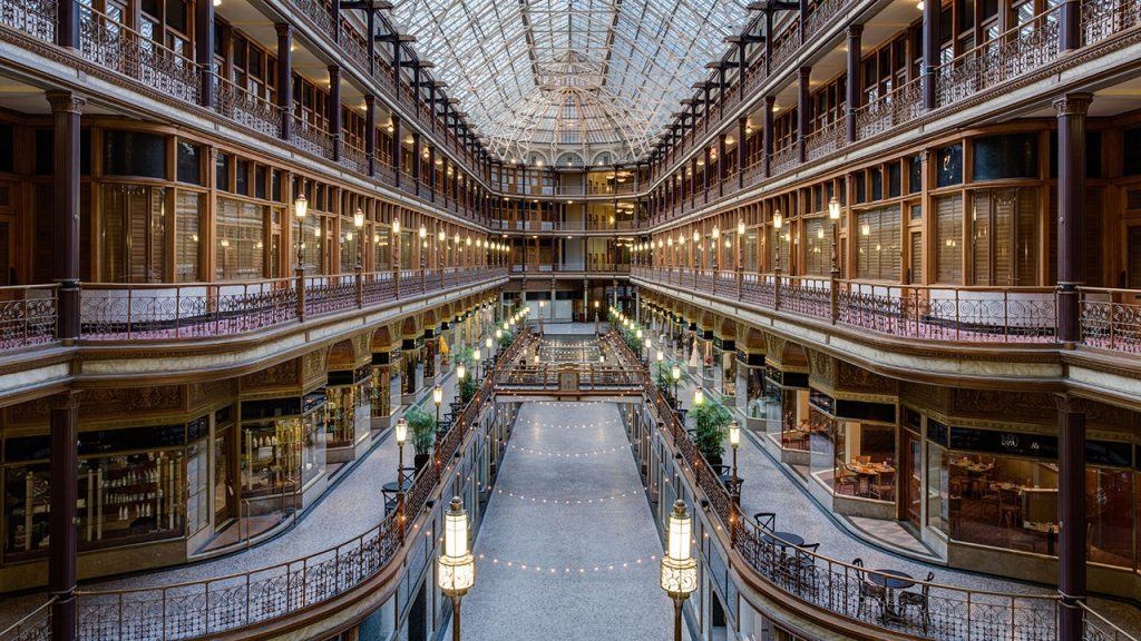 Stay at Hyatt Regency Cleveland The Arcade for free during the World Series when you redeem hotel points. http://www.travelingwellforless.com