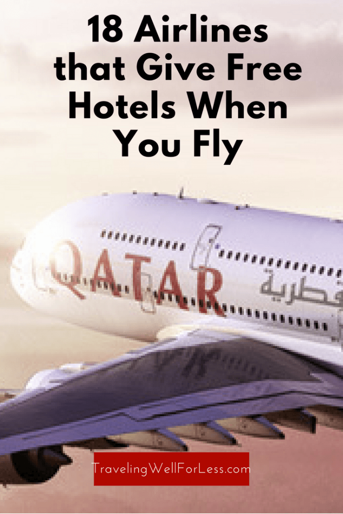 Say goodbye to sleeping at the airport during long layovers. Buy a ticket on these airlines and get a free hotel room. https://www.travelingwellforless.com