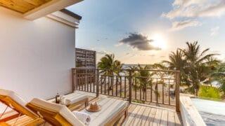 beachfront loft on tropical island, itzana resort belize