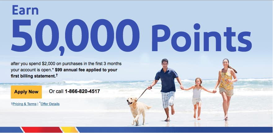 Southwest 50,000 point credit card, 50k Southwest card, Southwest Companion Pass, fly free for two years, Traveling Well For Less