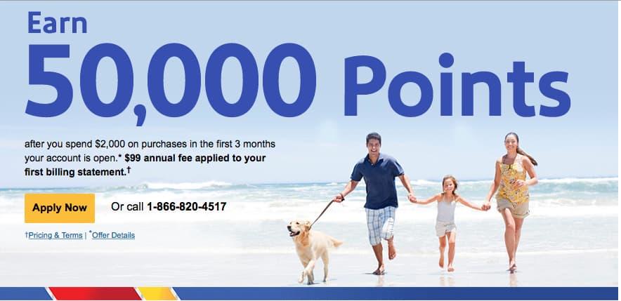southwest 50 000 point credit card is back. Black Bedroom Furniture Sets. Home Design Ideas