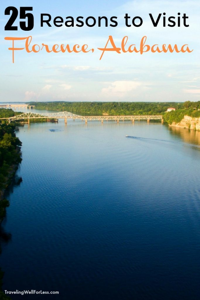 From fishing in the Tennessee River, shopping at the corporate headquarters of New York fashion designer Billy Reid, to sitting in the same recording studio that the Rolling Stones recorded at, the small town of Florence, Alabama will surprise you. Here are 25 reasons to visit Florence, Alabama. | TravelingWellForLess.com