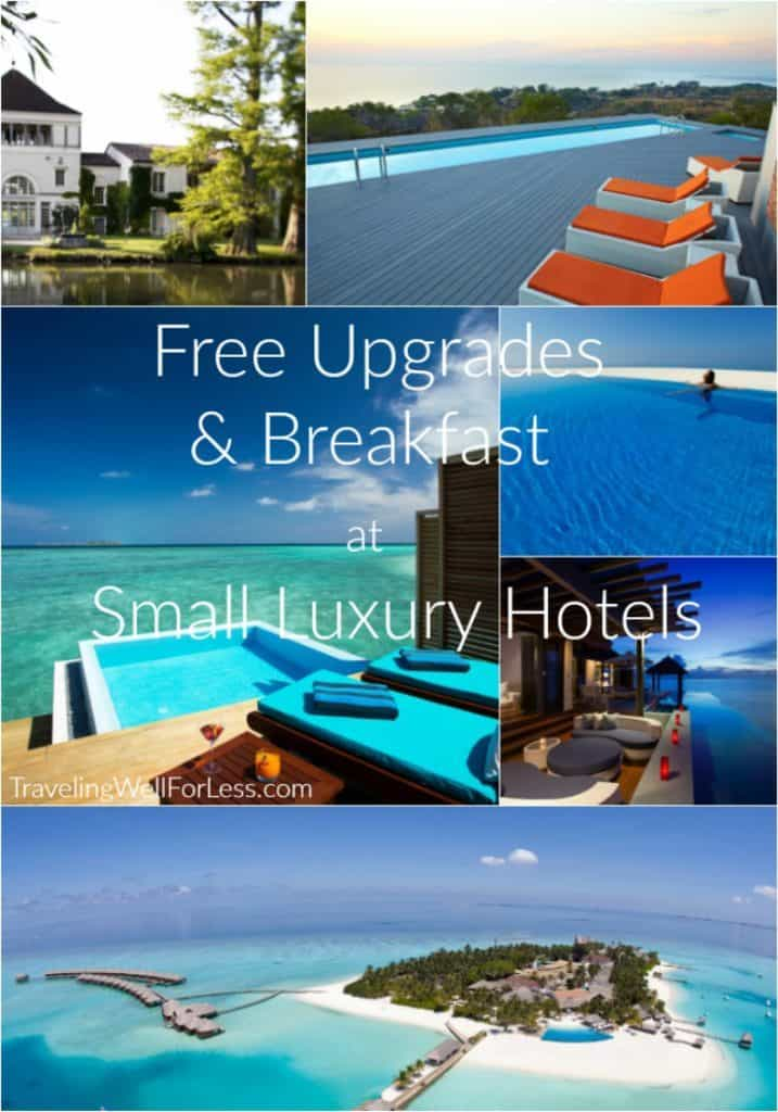 An easy trick to get instant elite hotel status, room upgrades, and breakfast for free. Here's how you can get free upgrades & breakfast at Small Luxury Hotels. TravelingWellForLess.com