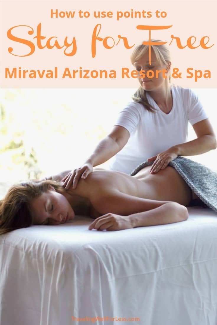 Imagine a luxurious spa vacation where you are pampered. A wellness retreat where you can relax. You can stay for free at the world famous all-inclusive Miraval Arizona Resort and Spa! Keep reading to find out how to use Hyatt points to get free at Miraval. | travel hacking | Luxury travel | spa retreat | TravelingWellForLess.com