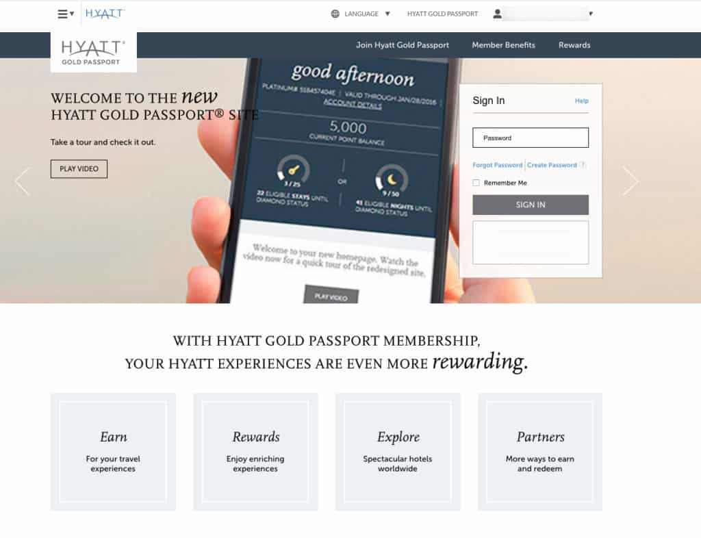 new hyatt gold passport website adds new features easier to use. Black Bedroom Furniture Sets. Home Design Ideas