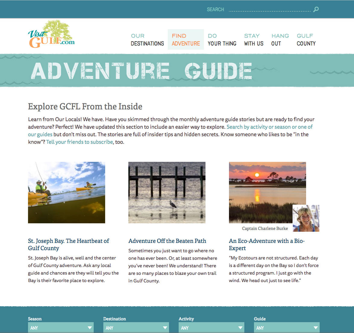 Have and plan your adventure with the Gulf County Adventure Guide.