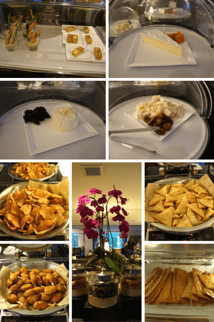 Free evening appetizers in the executive lounge at the JW Marriott LA Live. https://www.travelingwellforless.com