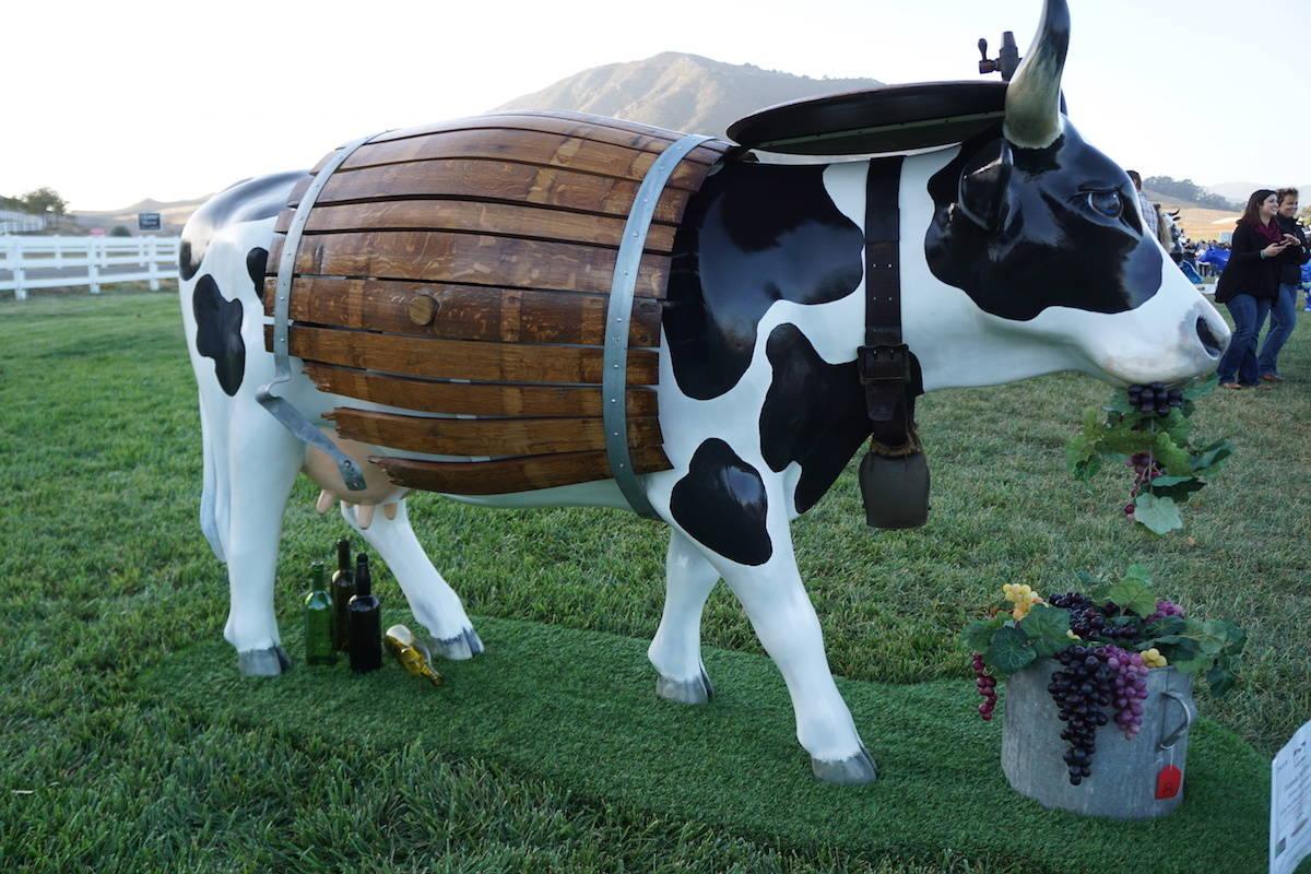 Callable the Wine Cow. CowParadeSLO.