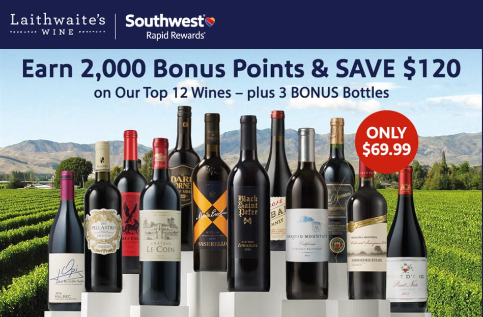 You can get 2,000 Southwest points when you buy wine. | how to earn Southwest points without flying | travel hacking | miles and points | TravelingWellForLess.com