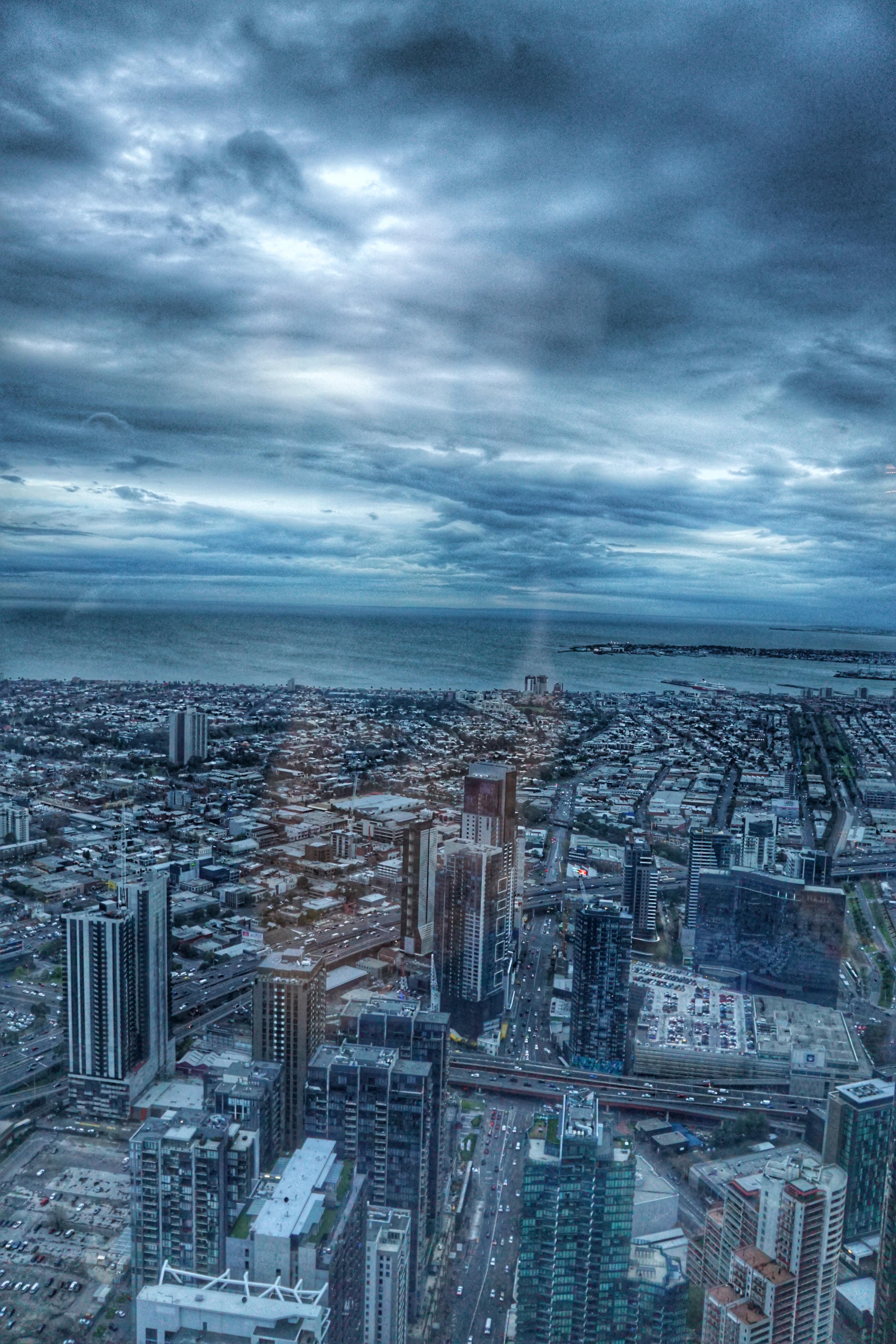 Melbourne Port Phillip Bay from Eureka Skydeck travelingwellforless.com