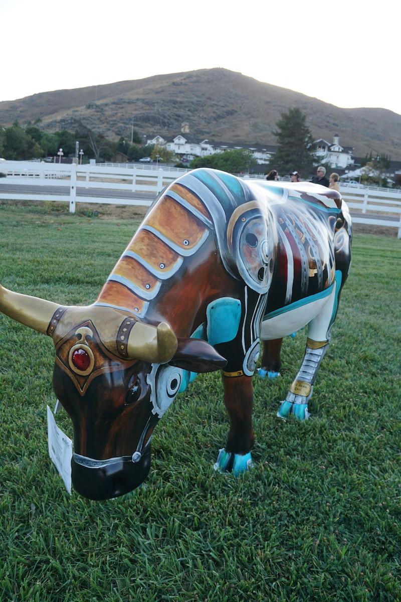 Steam Punk Bessie, CowParade SLO. TravelingWellForLess.com