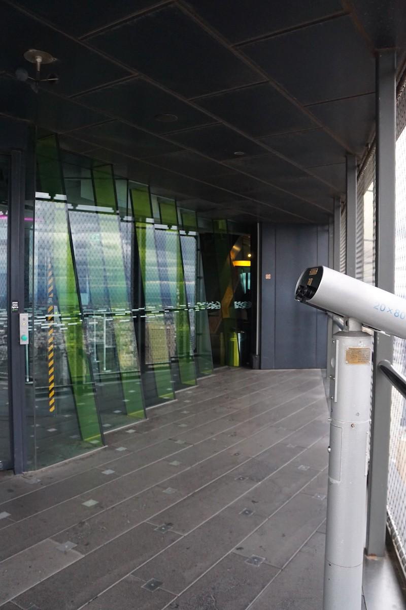 Eureka Terrace and binoculars. TravelingWellForLess.com