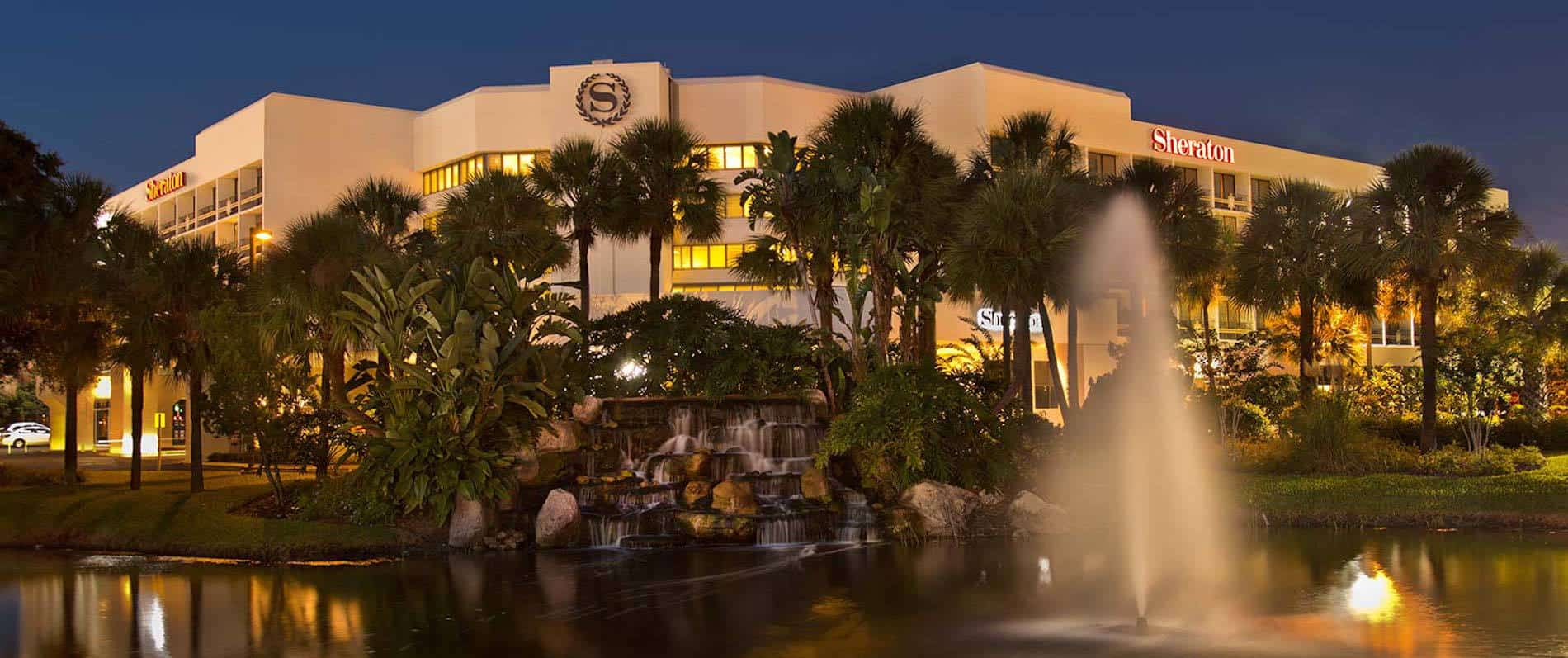 You can use your 35,000 signup bonus to get 8 free nights at hotels like the Sheraton Lake Buena Vista Hotel near Disney World! | travel tips | travel hacks | TravelingWellForLess.com